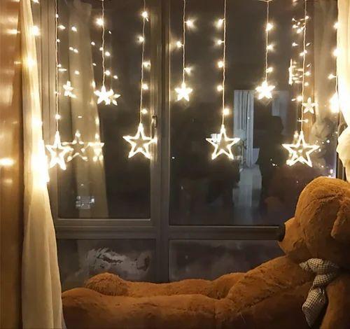 138 Led Star Curtain Lights Diwali Festival Decoration Lights
