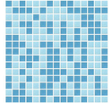 Blue Random Mix Glass Mosaic Tiles