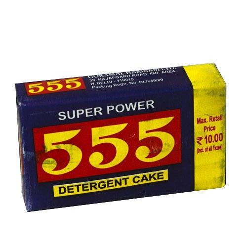 Solid Cake 555 Detergent Bar, Shape: Rectangle