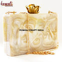 Handmade Resin Box Clutch Purse Party Bag Fashion Jewellery