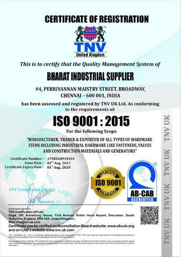 Bharat Industrial Supplier - Wholesaler from George Town, Chennai