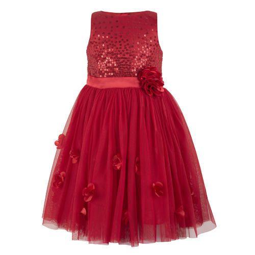 43962e25b355 Satin And Net Red Girls Long Dress