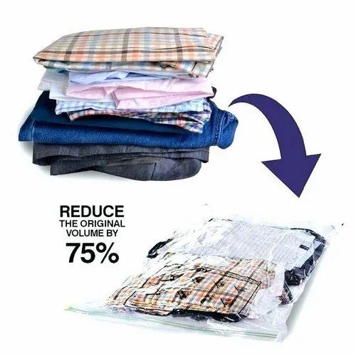 Zipper Vacuum Bag For Cloth Storage Rs