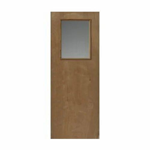 Pine Wood Vision Panel Flush Door