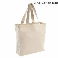 Double Handled Natural Cotton Carry Bag, Capacity: 1 Kg To 5 Kg, Size/Dimension: Mix Sizes