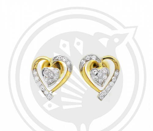 day sales on diamond memorial temple st crystal and shop earrings clair stud incredible gold yellow