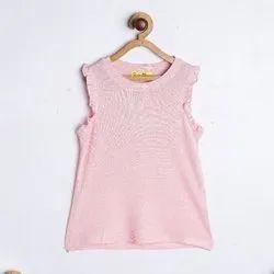 Sleeveless Pink Girls Sleevless Top