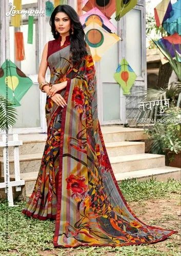 13998a4bdc Laxmipati Sarees Tabassum Chiffon Georgette Party Wear Saree ...