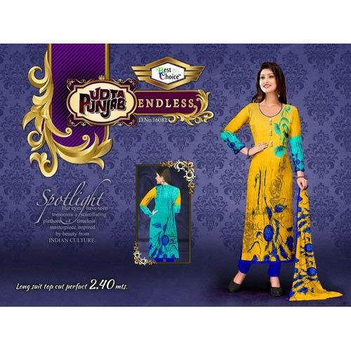 c81cefbf71 Unstitched Designer Churidar Suit, Rs 250 /piece, Luthra Textile ...
