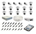 Hikvision Surveillance Kit Of 4 12 Bullet And Dome Cctv Camera With 16ch. Dvr & All Accessories