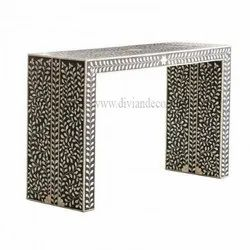 Sleek Bone Inlay Console Table