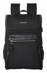 Husker Black Nylon Business Travel Laptop Backpack
