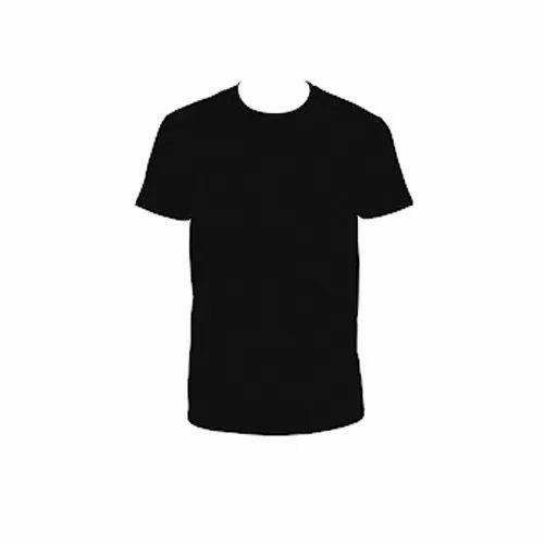 a2b003824f11 Large Lycra Cotton Men's Black Plain T Shirt, Rs 99 /piece | ID ...