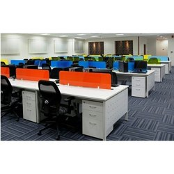 Open Office Workstation With Pedestal