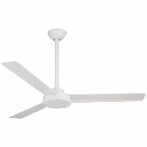 Alqamah White Plain Ceiling Fan Warranty 1 Year