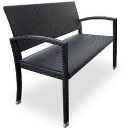 Elegant Wicker Outdoor Bench