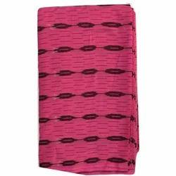 Pink Printed Cotton Ikat Fabric