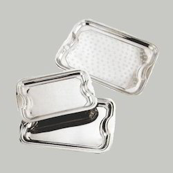 Silver Color Steel Serving Tray