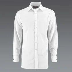 White Cotton Plain Designer Shirt