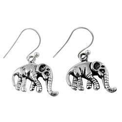 Elephant Design 925 Sterling Silver Earrings