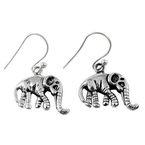 Pearl India International Elephant Design 925 Sterling Silver Earrings Size 2 9 X 1 8 Cm