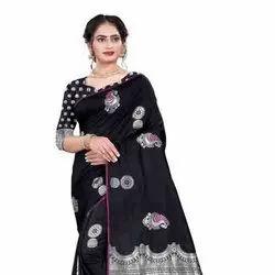 Soft Cotton Silk Saree With Blouse