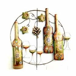 Wine Bottle & Glass Wall Hanging