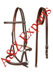 Brown Leather Side Pull Bridle