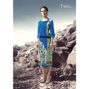 Ladies Rayon 3/4th Sleeve Printed Long Kurti