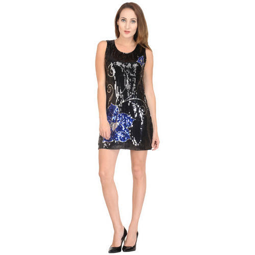 Women Black Surplus A-Line Dress