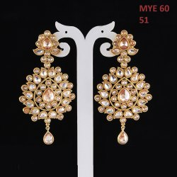 Miracle Jewels Gold Designer Antique Earring