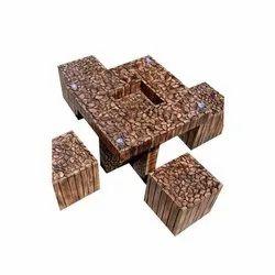 Wooden Square Log Furniture