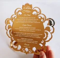 Mirror Acrylic Invitation Card
