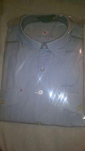 Full Sleeves Men Blue Shirt