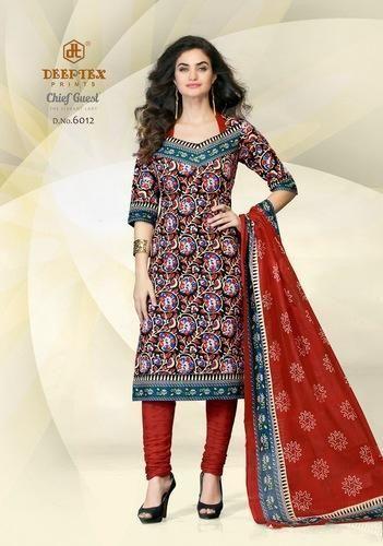 c5e8288e28 Cotton Semi-Stitched Deeptex Chief Guest Suit, Rs 390 /piece | ID ...