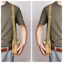 ROQ Tactical Molle Pouch Universal Outdoor Sport Utility Gadget Belt (Brown)