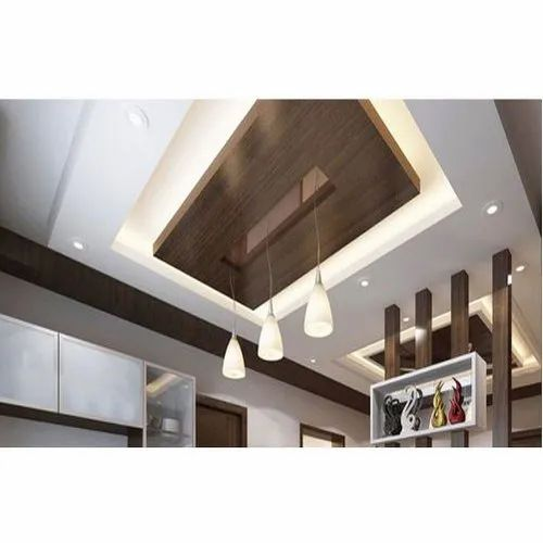 Living Room Gypsum False Ceiling, for Commercial, Features ...