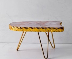 Agate Platter On Stand