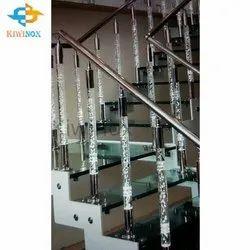 SS304 Acrylic Pillar