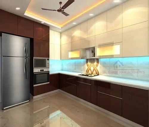 HDHMR Acrylic Modular Kitchen, Warranty: 5-10 Years, Rs ...