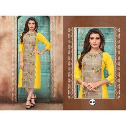 Stylish Casual Wear Printed Kurti