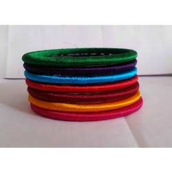 Special Collection Neon Color Thin Silk Thread Bangles