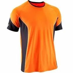 Exercise And Gaming Plain Mens Polyster / Dryfit / Dotes / Round Neck T-Shirts