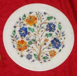 Marble Stone Pietra Dura Decorative Plate