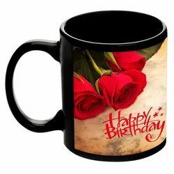 Happy Birthday Printed Sublimation Mug, Size: 11 cm