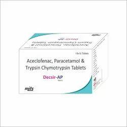 Aceclofenac,Paracetamol Trypsin Chymotrypsin Tablets