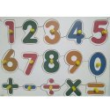 Wood Number With Symbols, Child Age Group: 2-5 Years