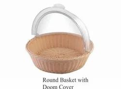 Round Basket With Dome Cover