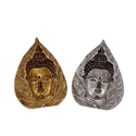 Buddha Carved in FRP Leaf Shape 5 inch