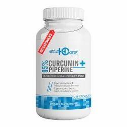 Healthoxide Curcumin Piperine Capsules
